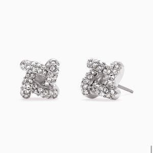 Pave Knot Stud Earrings